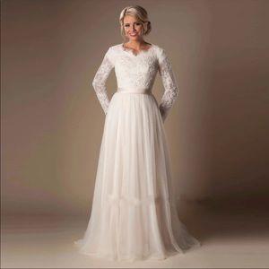 Custom made Modest Wedding Dress Fairchild